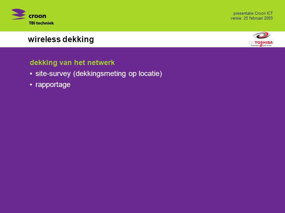 wireless dekking dekking van het netwerk