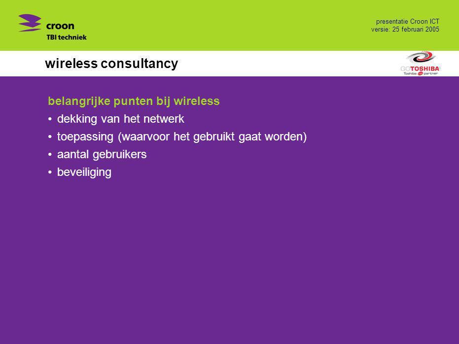 wireless consultancy belangrijke punten bij wireless
