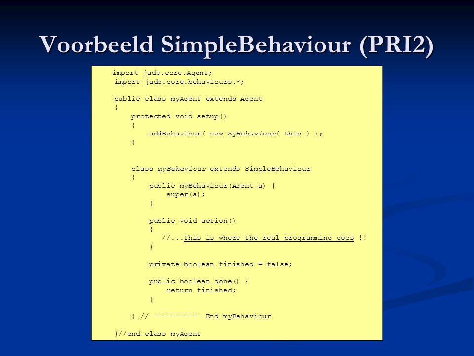 Voorbeeld SimpleBehaviour (PRI2)