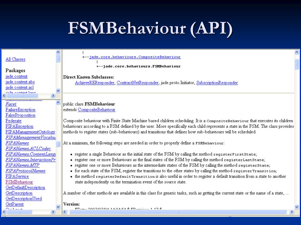 FSMBehaviour (API)