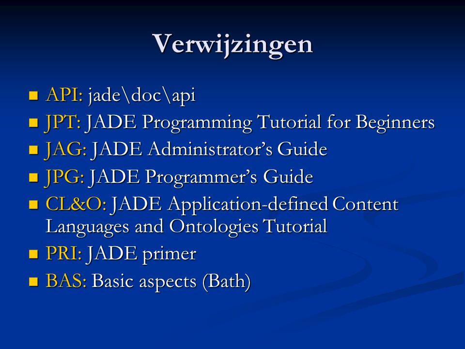 Verwijzingen API: jade\doc\api
