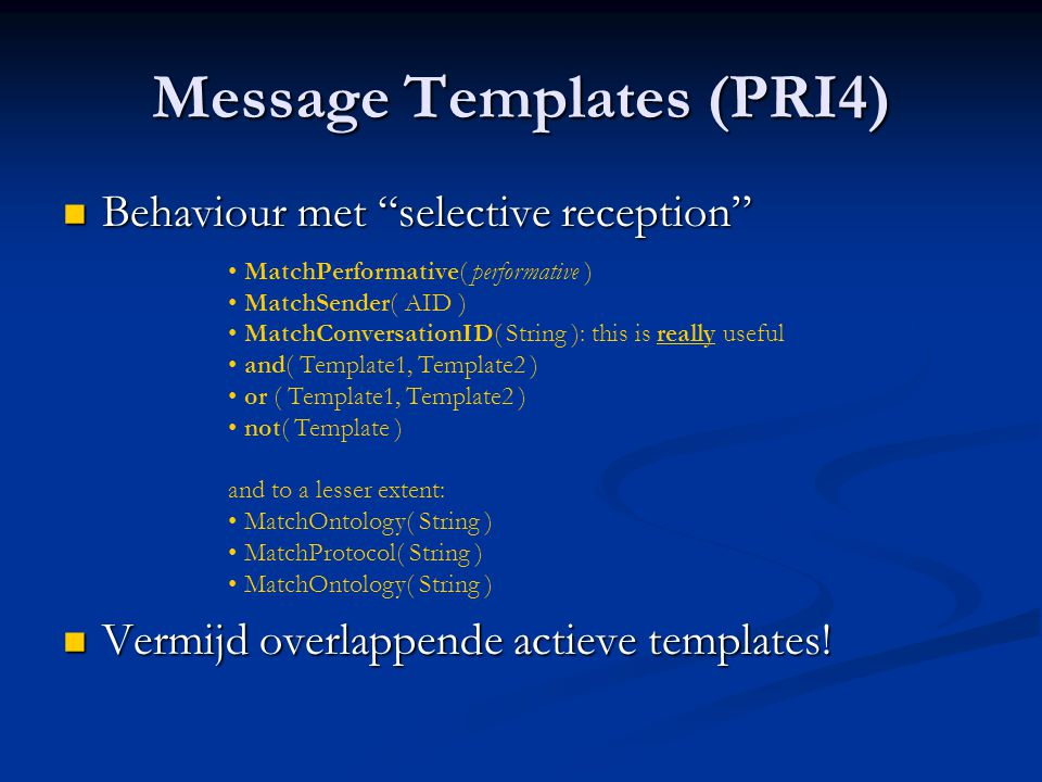 Message Templates (PRI4)
