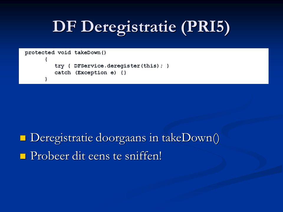 DF Deregistratie (PRI5)