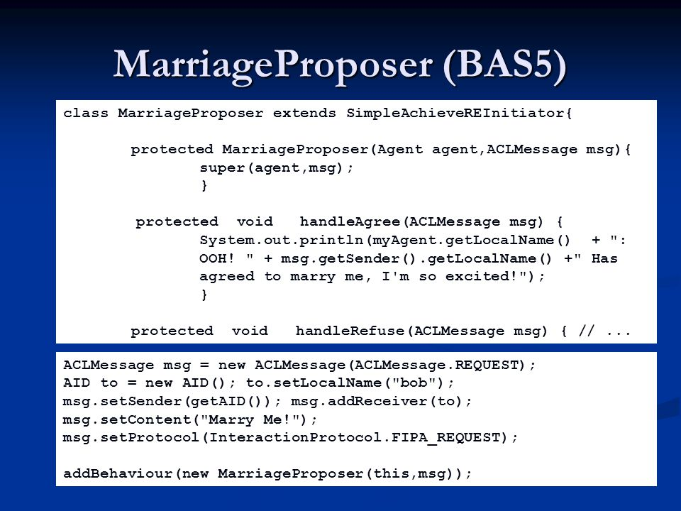 MarriageProposer (BAS5)