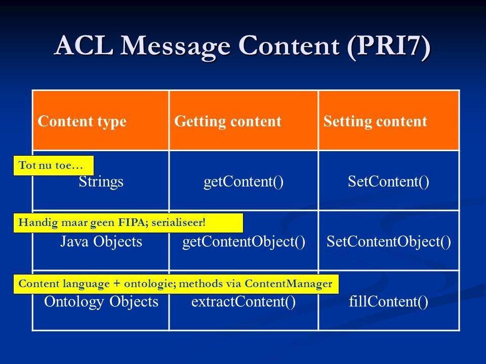 ACL Message Content (PRI7)