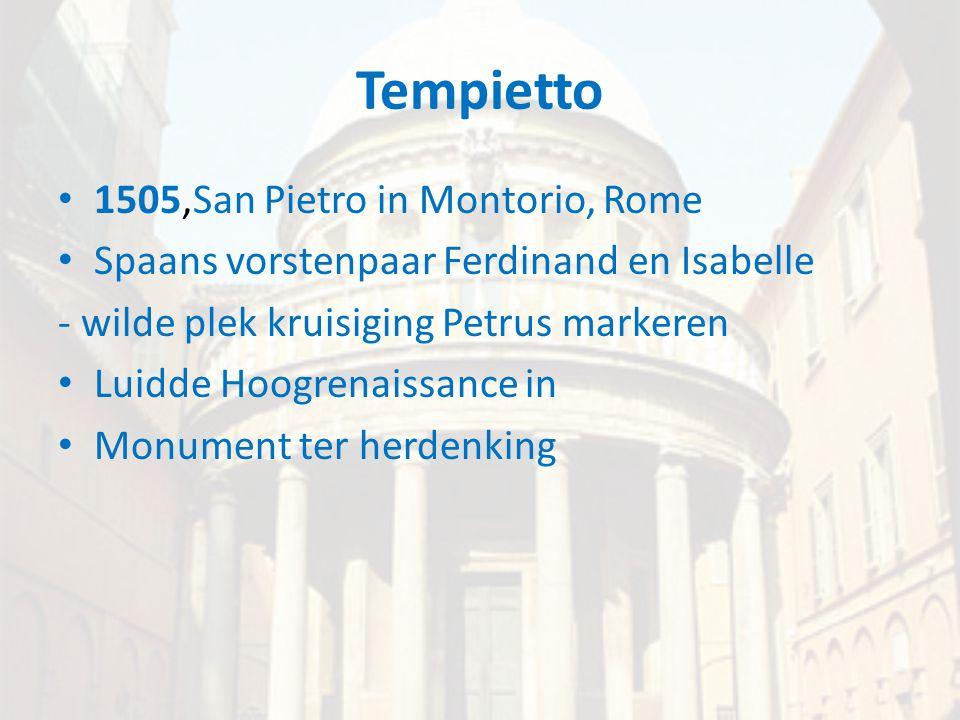 Tempietto 1505,San Pietro in Montorio, Rome