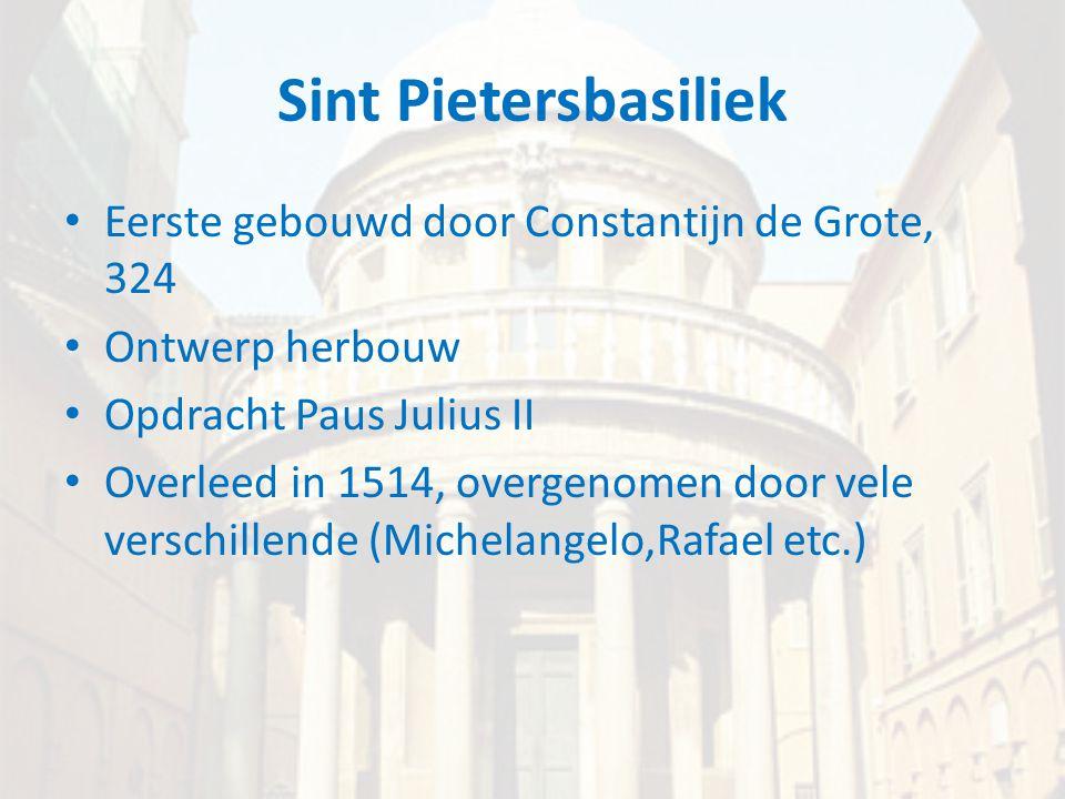 Sint Pietersbasiliek Eerste gebouwd door Constantijn de Grote, 324