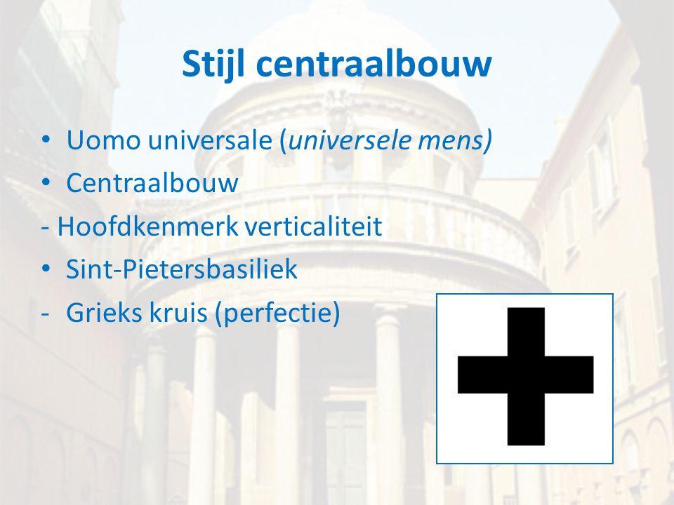 Stijl centraalbouw Uomo universale (universele mens) Centraalbouw