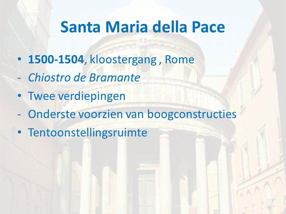 Santa Maria della Pace 1500-1504, kloostergang , Rome