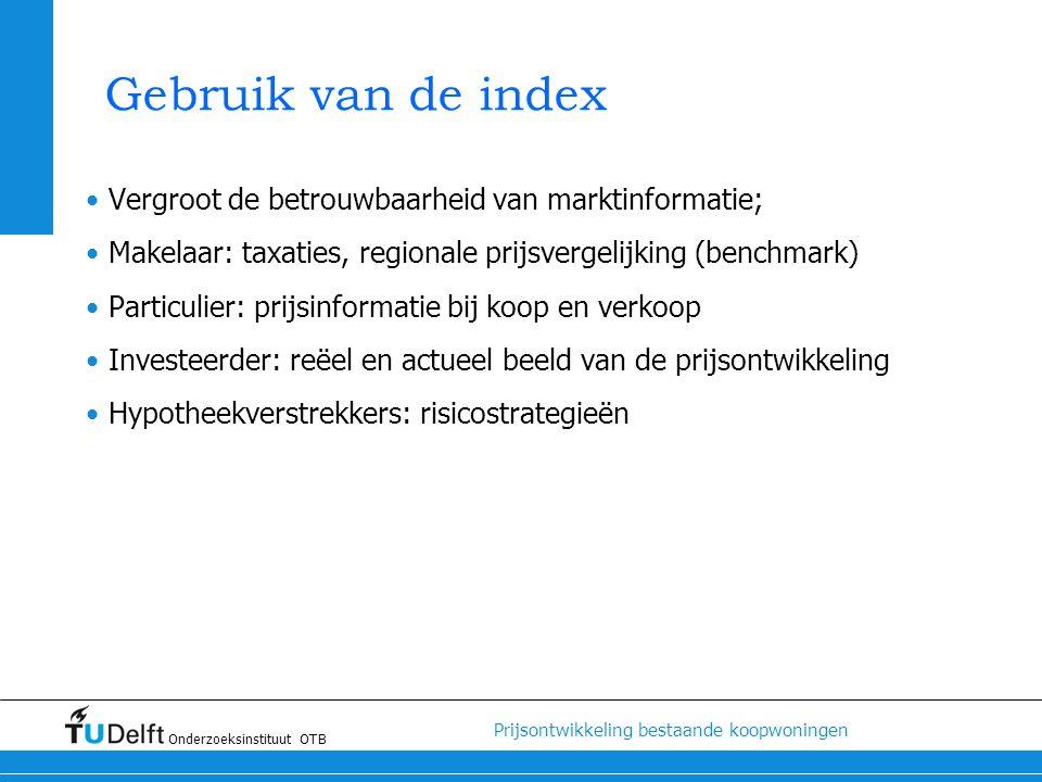 Gebruik van de index Vergroot de betrouwbaarheid van marktinformatie;