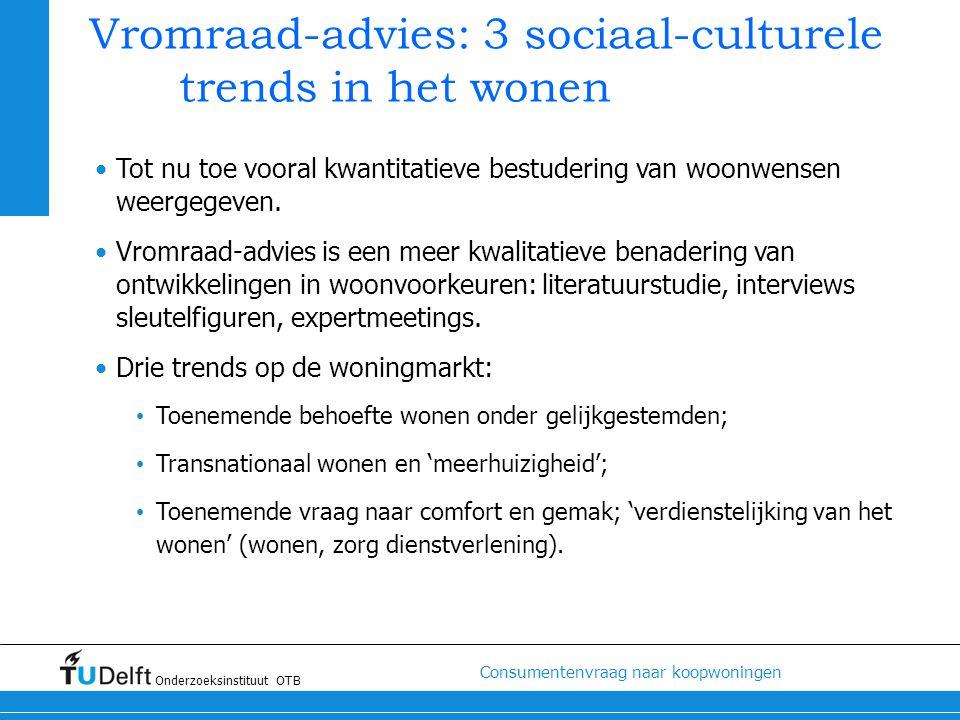 Vromraad-advies: 3 sociaal-culturele trends in het wonen