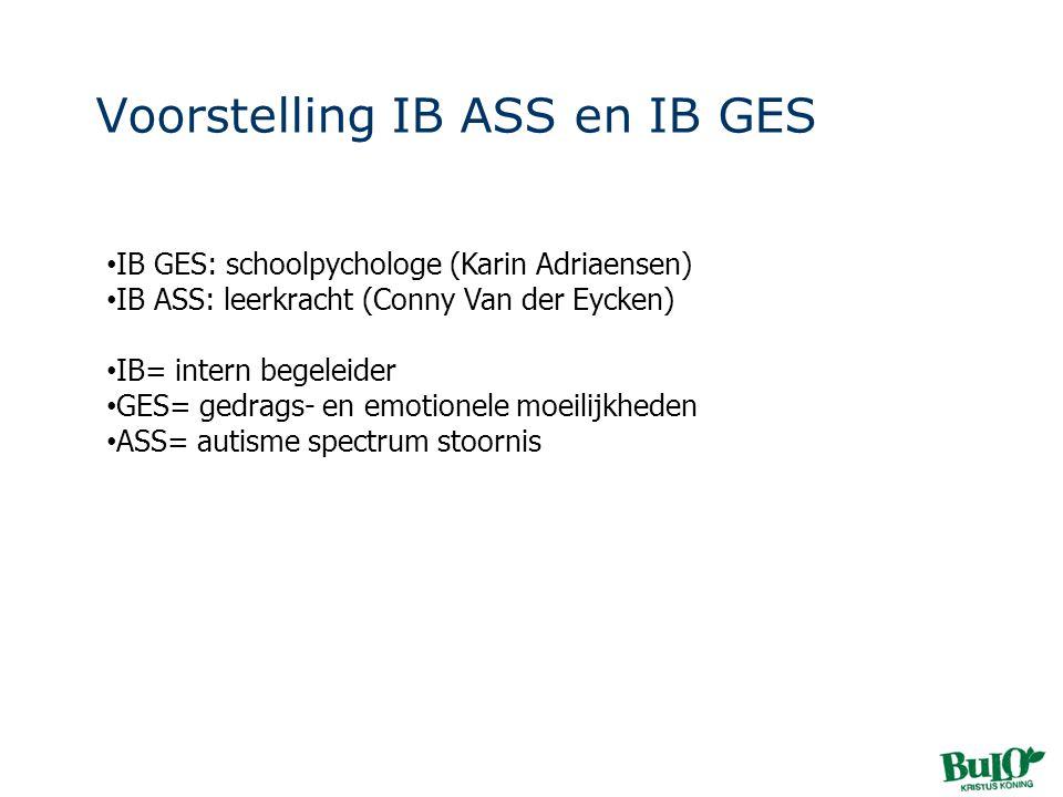 Voorstelling IB ASS en IB GES