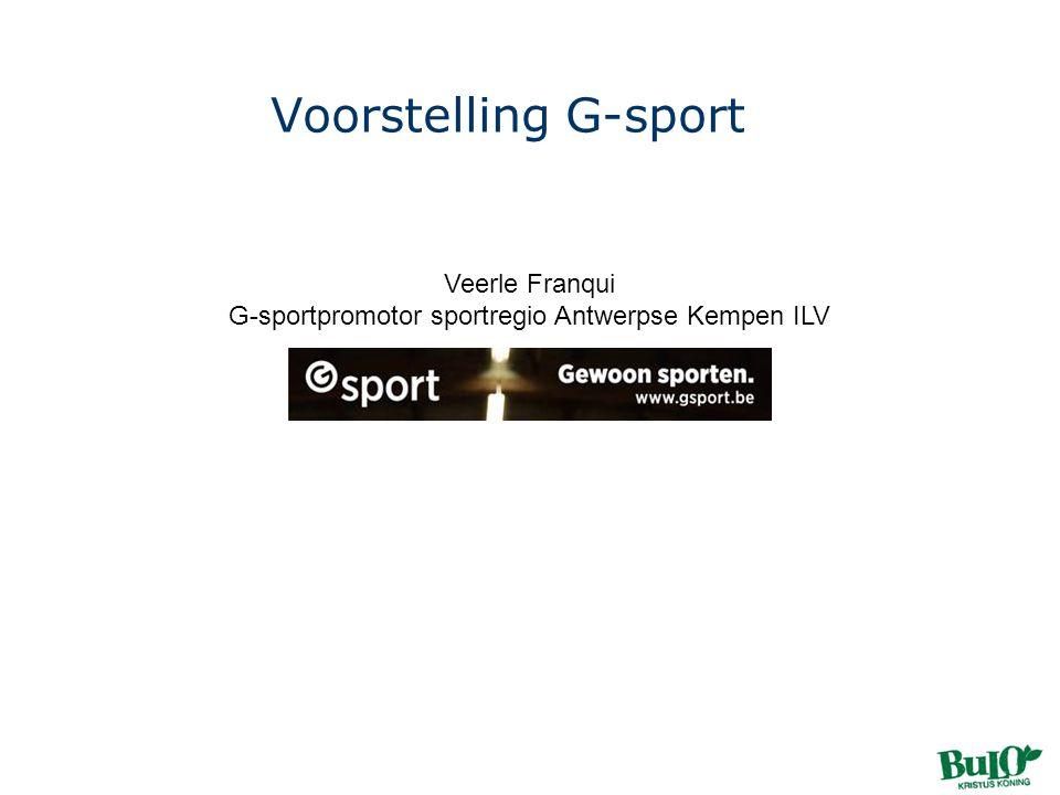 Veerle Franqui G-sportpromotor sportregio Antwerpse Kempen ILV