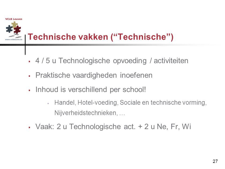 Technische vakken ( Technische )