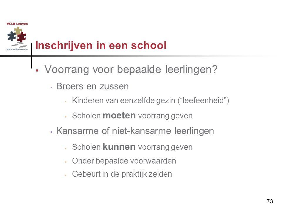 Inschrijven in een school