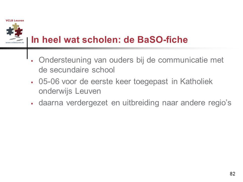 In heel wat scholen: de BaSO-fiche