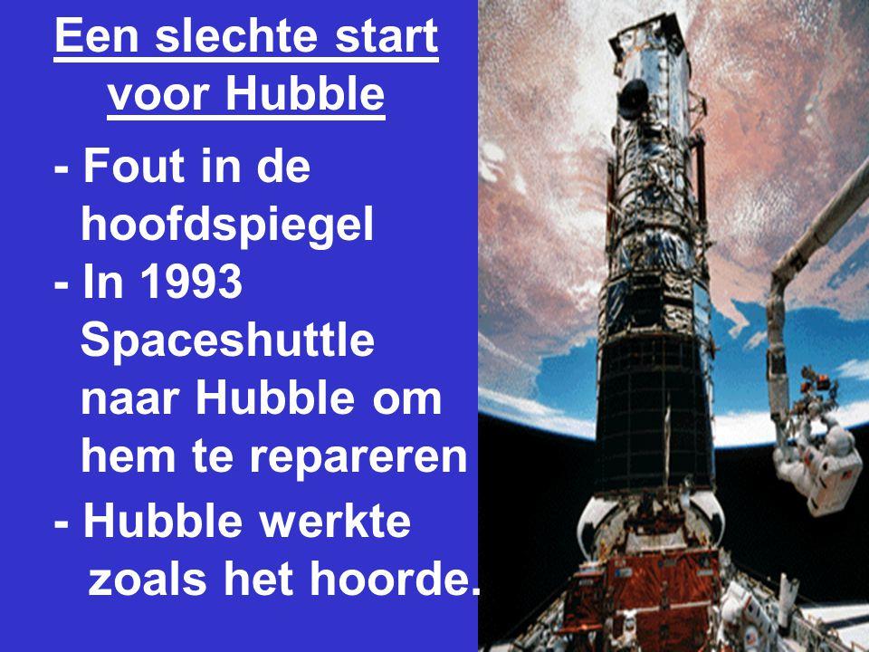 Een slechte start voor Hubble