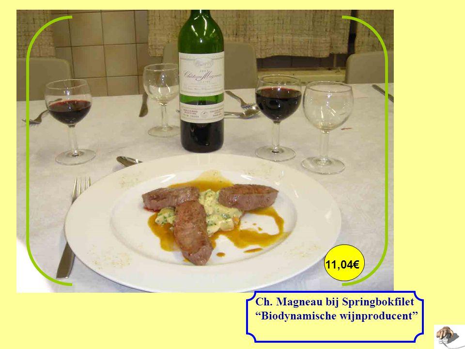 11,04€ Ch. Magneau bij Springbokfilet Biodynamische wijnproducent