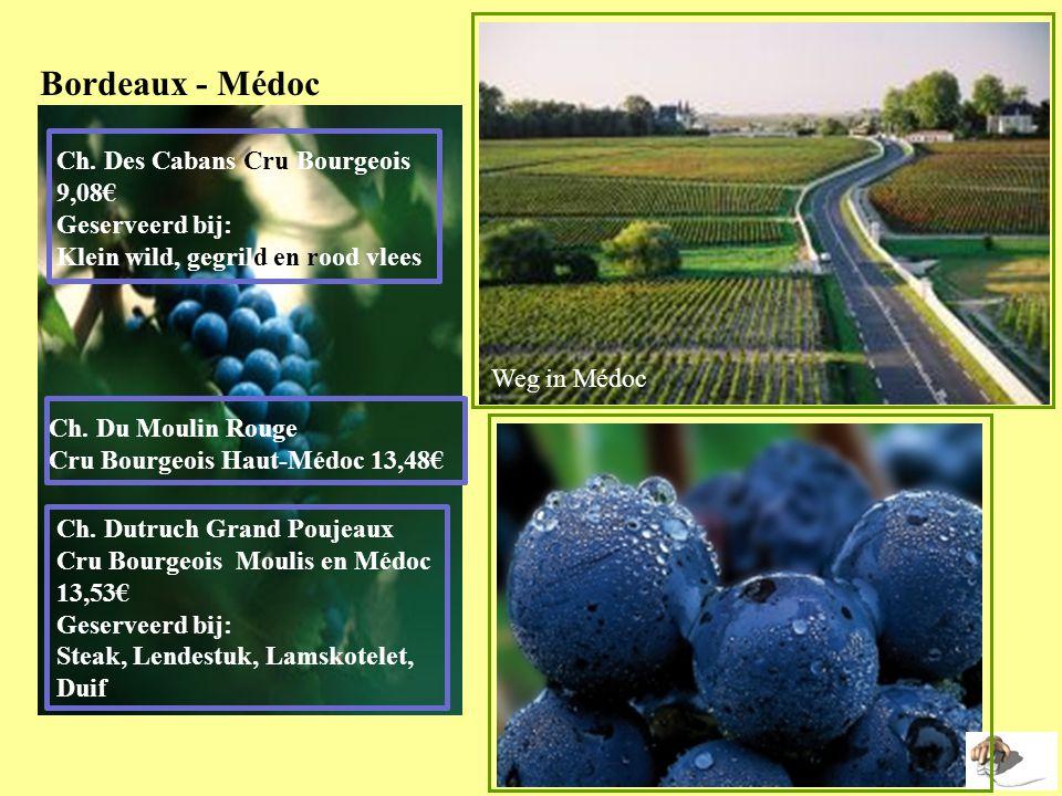 Bordeaux - Médoc Ch. Des Cabans Cru Bourgeois 9,08€ Geserveerd bij: