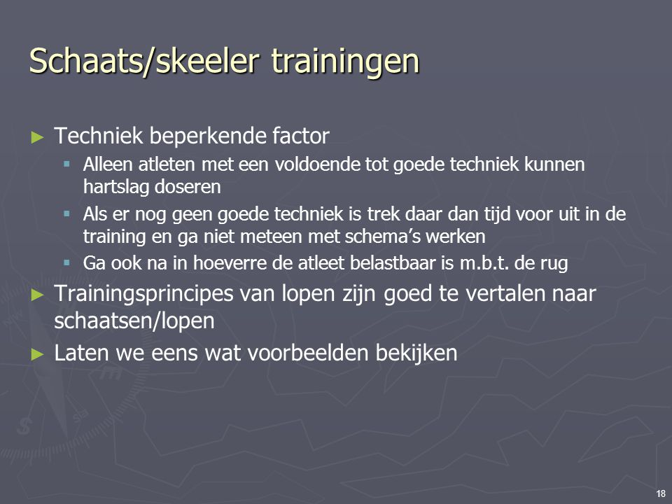 Schaats/skeeler trainingen