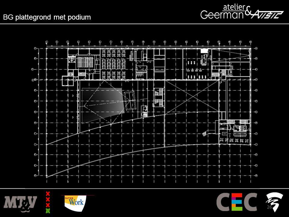BG plattegrond met podium