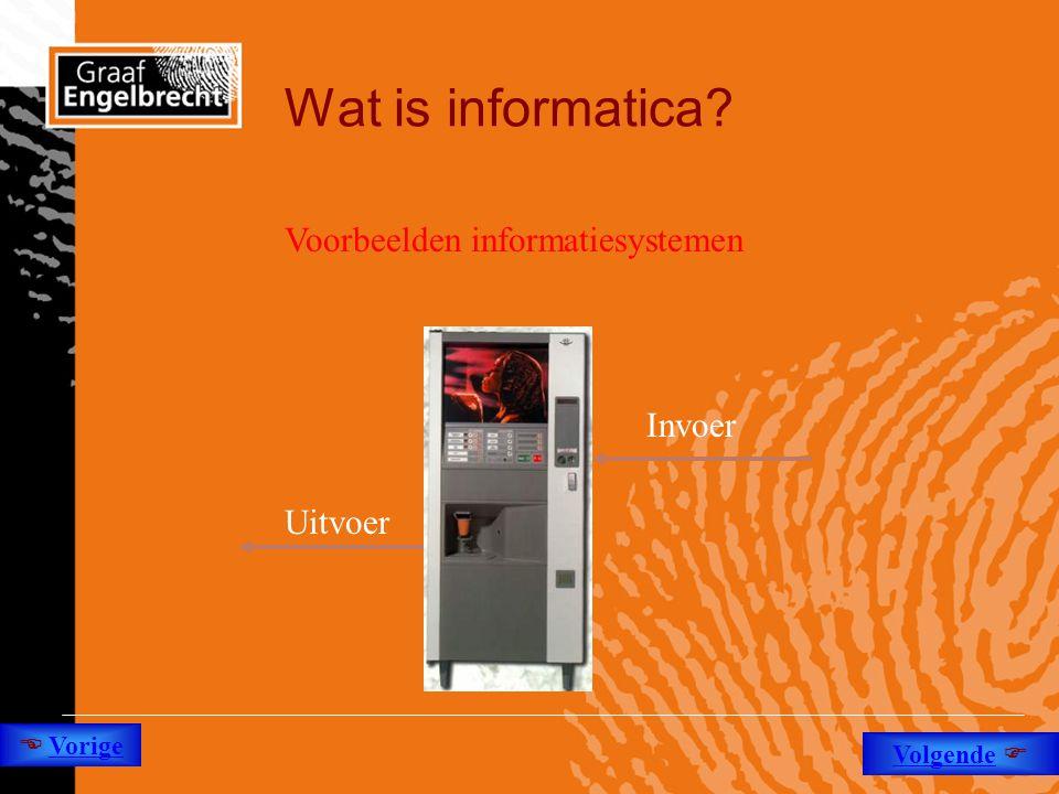 Wat is informatica Voorbeelden informatiesystemen Invoer Uitvoer