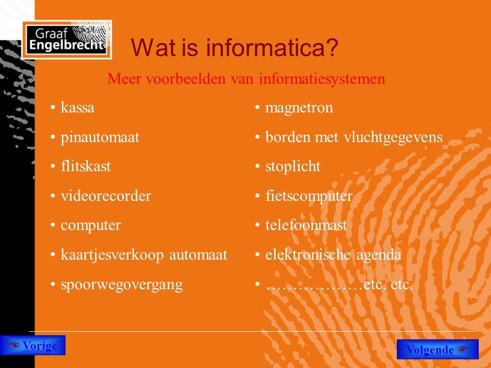 Wat is informatica Meer voorbeelden van informatiesystemen kassa