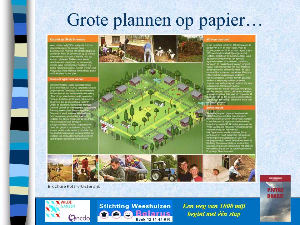 Grote plannen op papier…