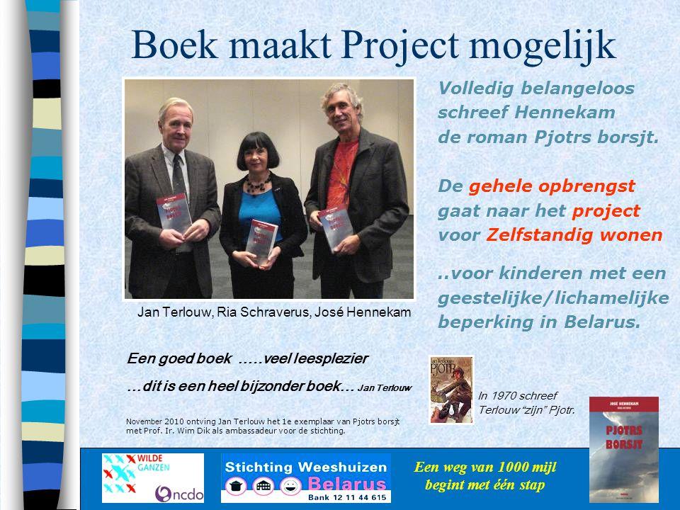 Boek maakt Project mogelijk