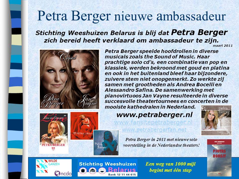 Petra Berger nieuwe ambassadeur
