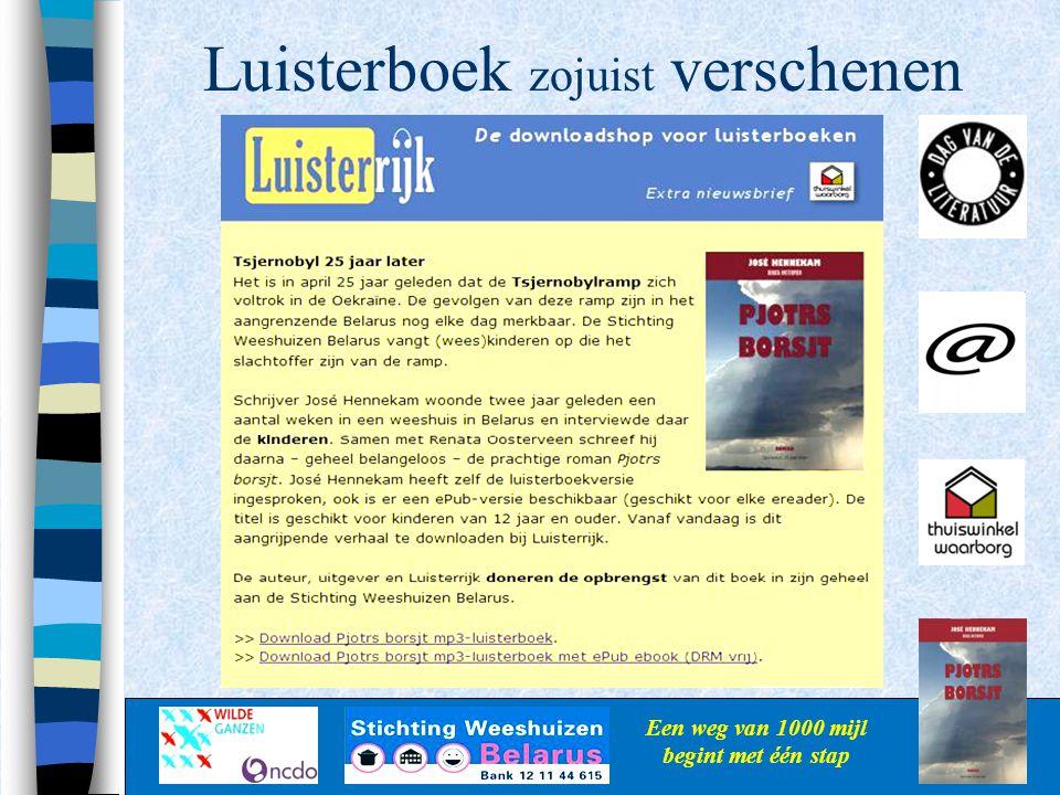 Luisterboek zojuist verschenen