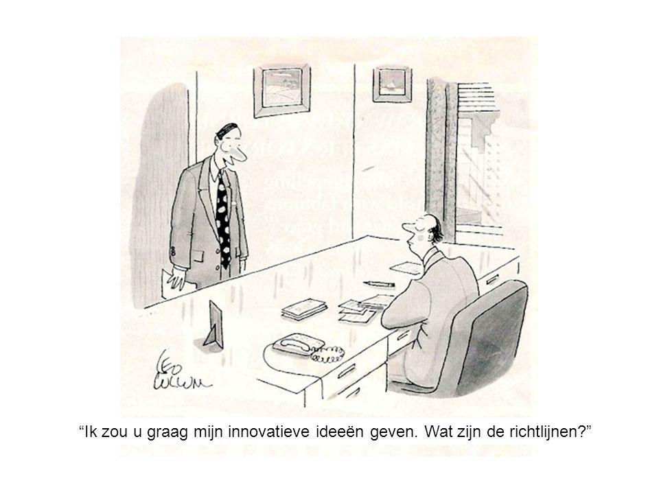 Dutch Innovation… Ik zou u graag mijn innovatieve ideeën geven. Wat zijn de richtlijnen