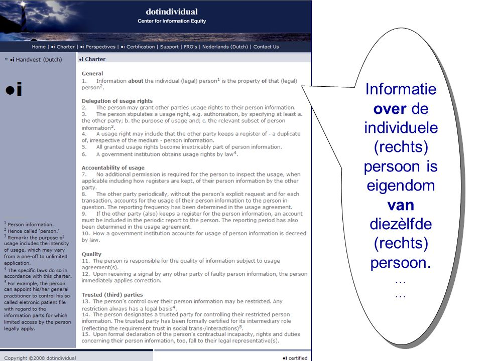Dotindividual Informatie over de individuele (rechts) persoon is eigendom van diezèlfde (rechts) persoon.
