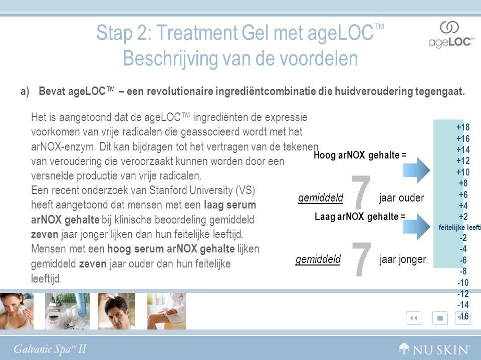 Stap 2: Treatment Gel met ageLOC™ Beschrijving van de voordelen
