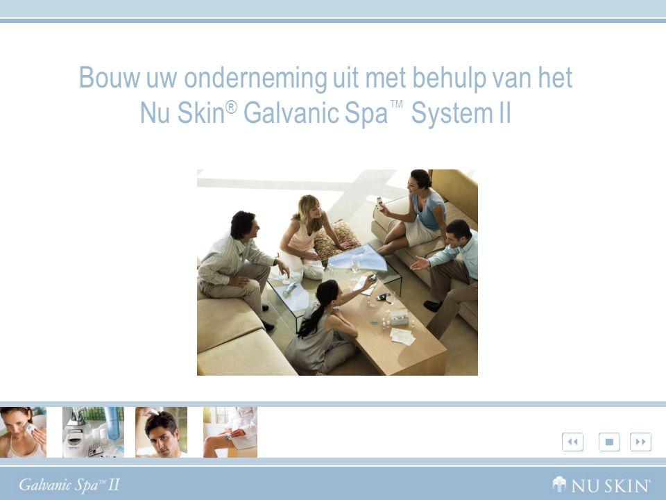 Bouw uw onderneming uit met behulp van het Nu Skin® Galvanic Spa™ System II