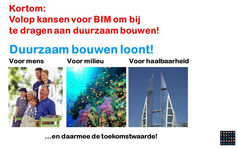 Kortom: Volop kansen voor BIM om bij te dragen aan duurzaam bouwen!