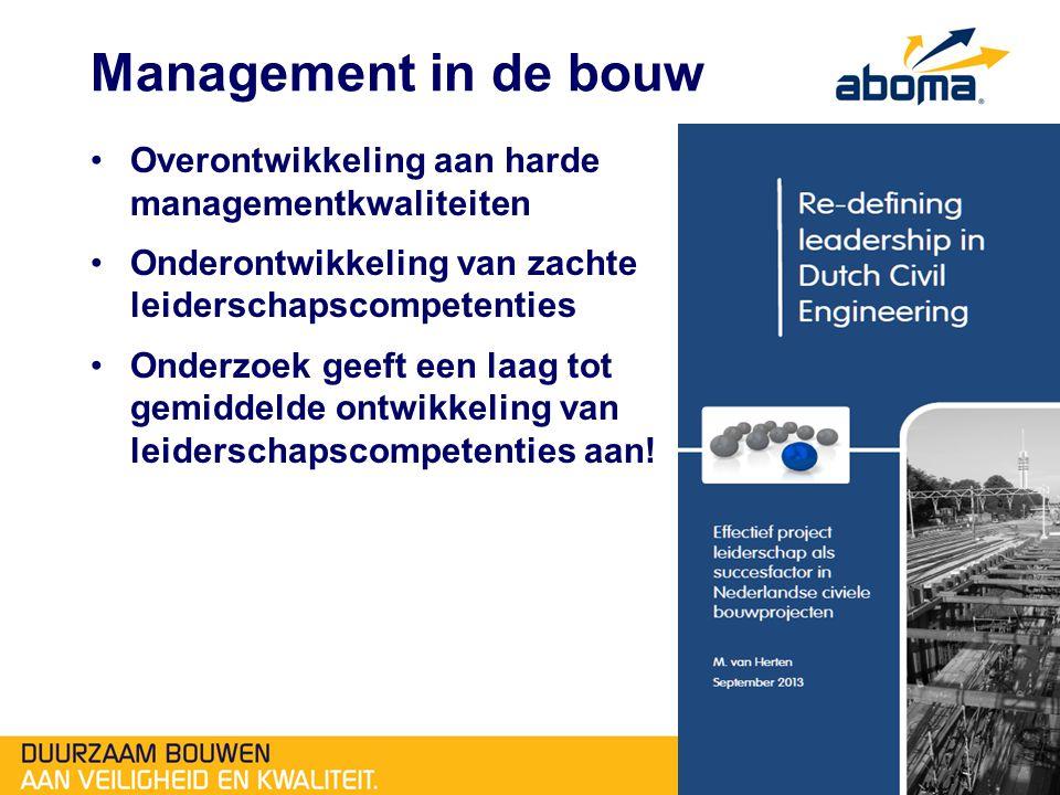 Management in de bouw Overontwikkeling aan harde managementkwaliteiten