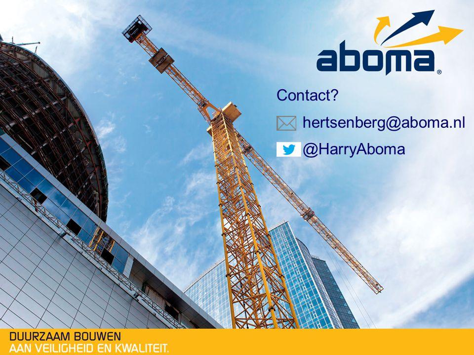 Contact hertsenberg@aboma.nl @HarryAboma
