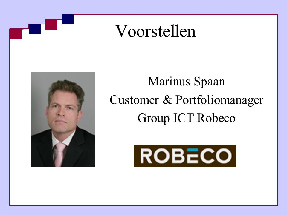 Marinus Spaan Customer & Portfoliomanager Group ICT Robeco