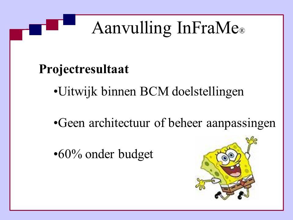Aanvulling InFraMe® Projectresultaat Uitwijk binnen BCM doelstellingen