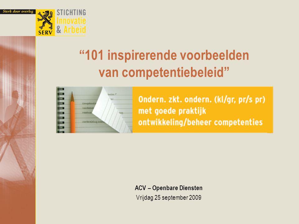 101 inspirerende voorbeelden van competentiebeleid
