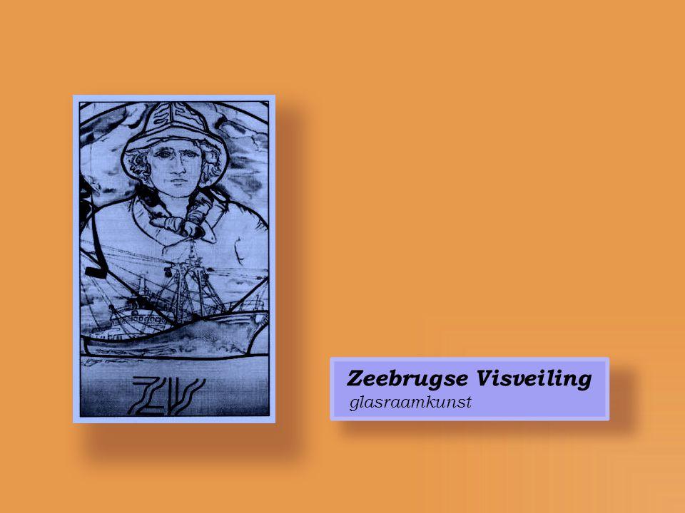Zeebrugse Visveiling glasraamkunst