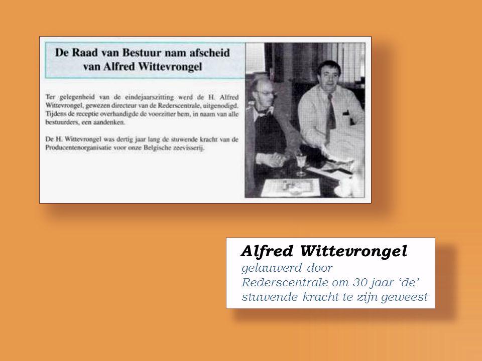 Alfred Wittevrongel gelauwerd door Rederscentrale om 30 jaar 'de'