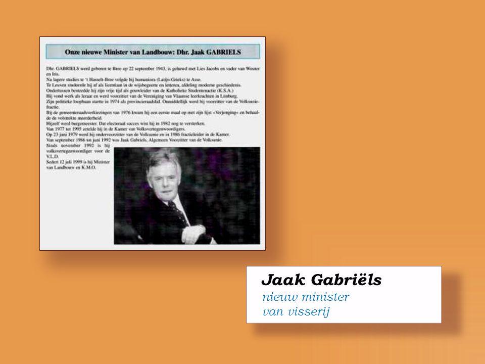 Jaak Gabriëls nieuw minister van visserij
