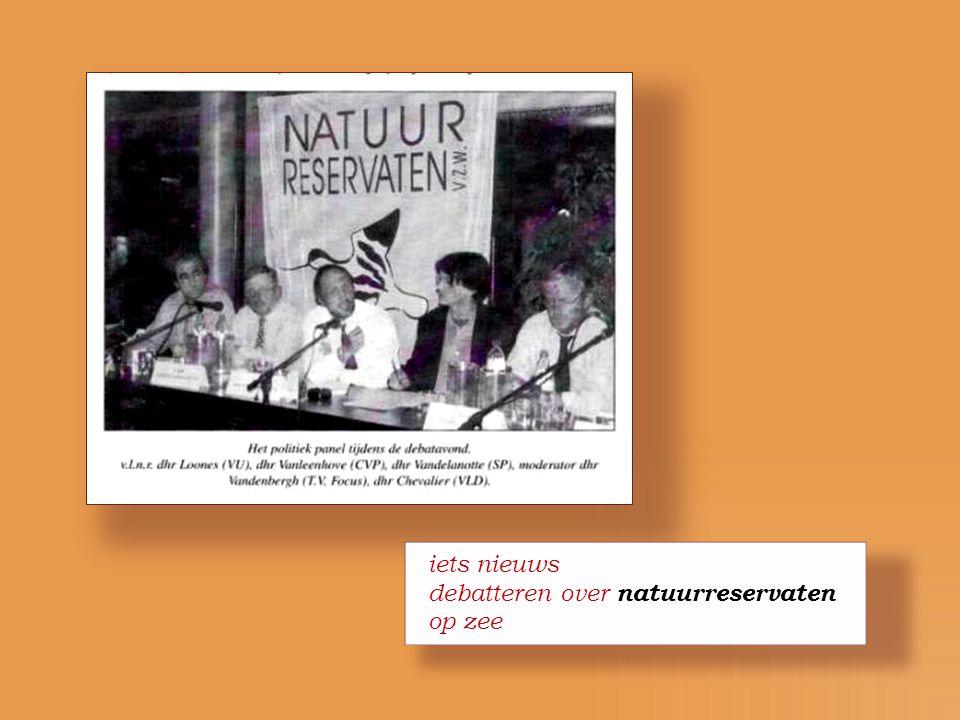 iets nieuws debatteren over natuurreservaten op zee