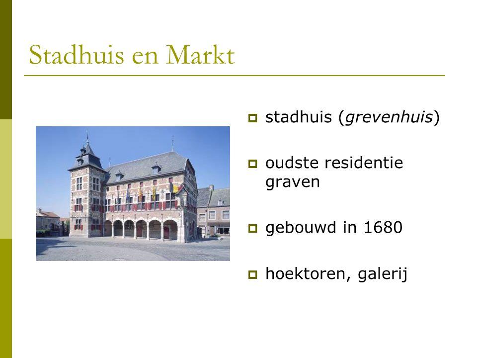 Stadhuis en Markt stadhuis (grevenhuis) oudste residentie graven