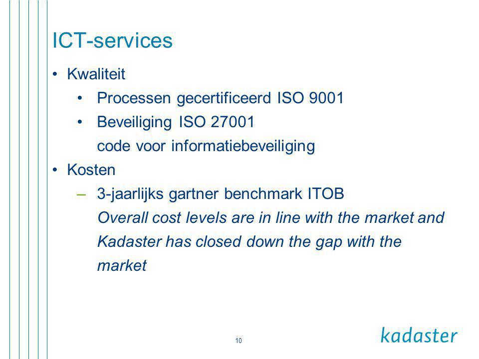 ICT-services Kwaliteit Processen gecertificeerd ISO 9001