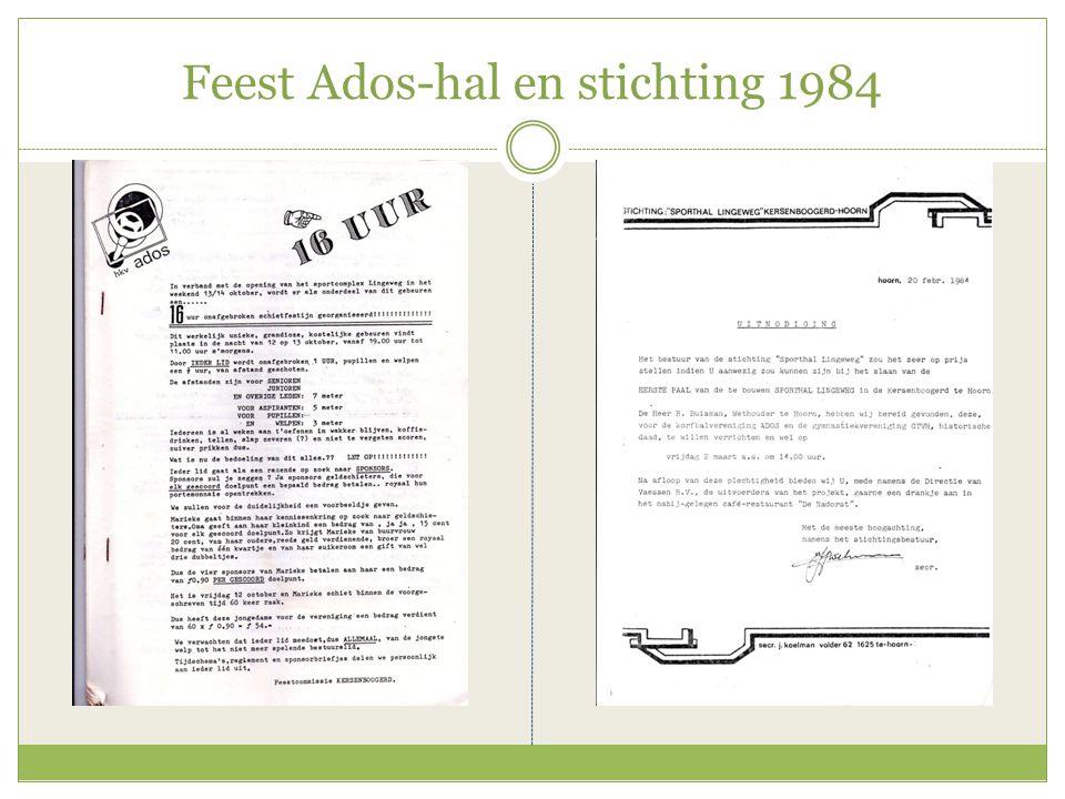 Feest Ados-hal en stichting 1984