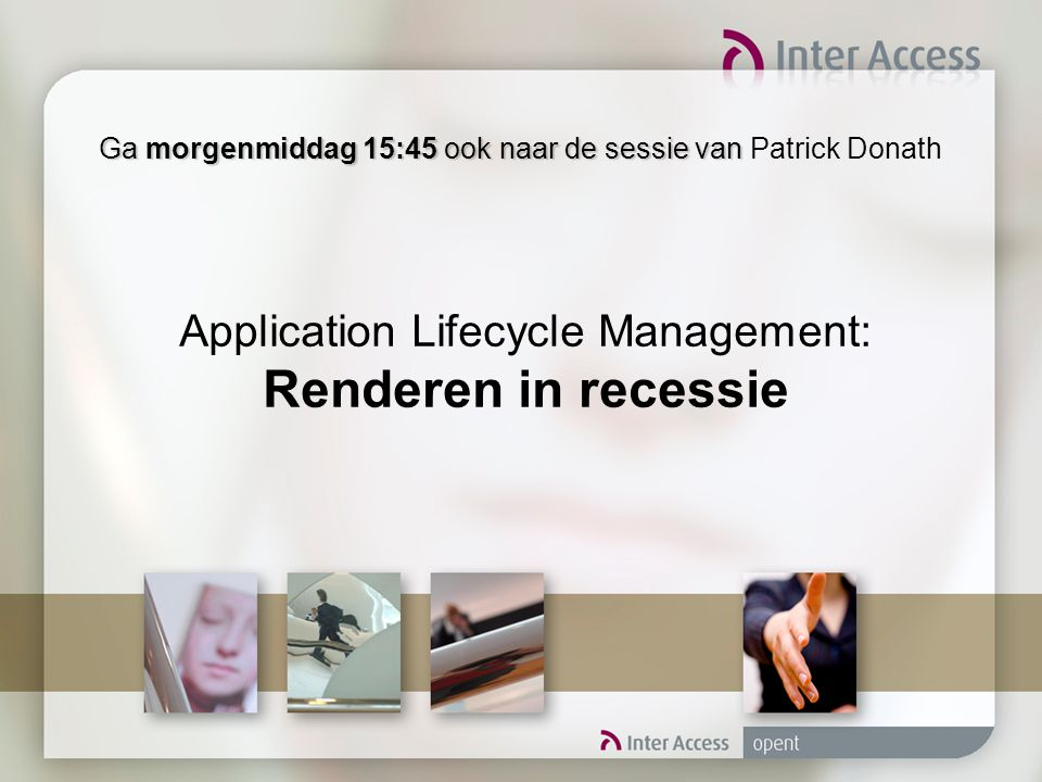 Application Lifecycle Management: Renderen in recessie