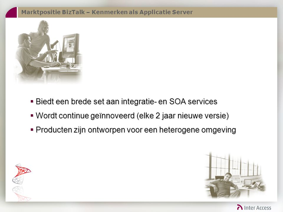 Biedt een brede set aan integratie- en SOA services